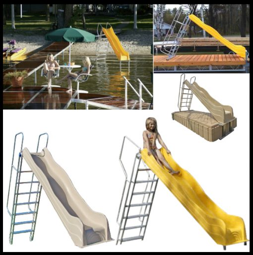 Lake Shore Yellow Tan Water Slide